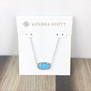 Kendra Scott Elisa ocean opal silver necklace